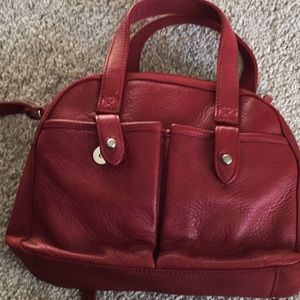 Small Red leather Fossil bag